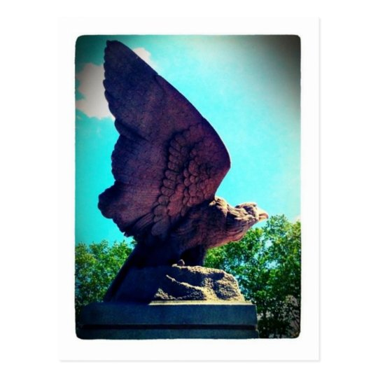 eagle flight postcard