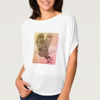 Eagle flowy ladies tshirt