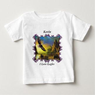Eagle flying over the landscape. baby T-Shirt
