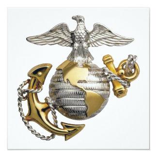Eagle Globe Anchor 13 Cm X 13 Cm Square Invitation Card
