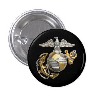 Eagle Globe Anchor 3 Cm Round Badge