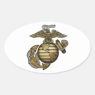 Eagle Globe Anchor Oval Sticker