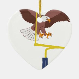 eagle goal post christmas ornament