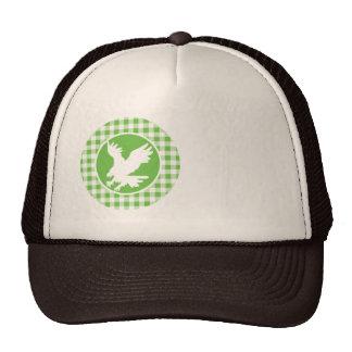 Eagle; Green Gingham Cap