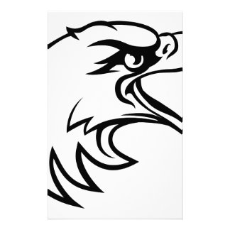 Eagle Head From Side Stationery Design