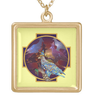 Eagle - Heavenly Wanderer № 10 Gold Plated Necklace