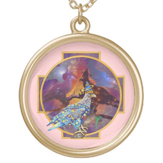 Eagle - Heavenly Wanderer № 14 Gold Plated Necklace