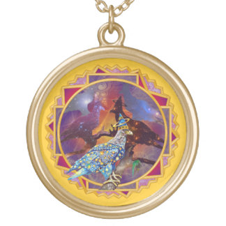 Eagle - Heavenly Wanderer № 15 Gold Plated Necklace