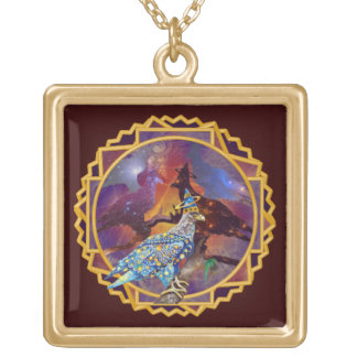 Eagle - Heavenly Wanderer № 17 Gold Plated Necklace