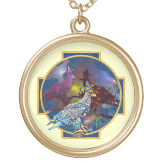 Eagle - Heavenly Wanderer № 18 Gold Plated Necklace
