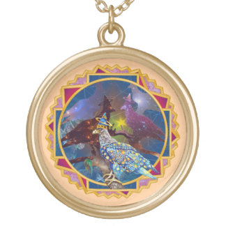 Eagle - Heavenly Wanderer № 20 Gold Plated Necklace