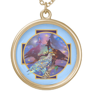 Eagle - Heavenly Wanderer № 22 Gold Plated Necklace