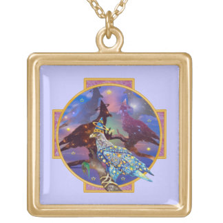 Eagle - Heavenly Wanderer № 23 Gold Plated Necklace