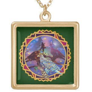 Eagle - Heavenly Wanderer № 24 Gold Plated Necklace