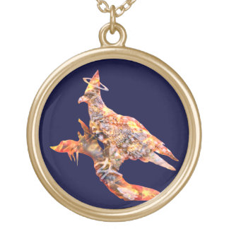 Eagle - Heavenly Wanderer № 28 Gold Plated Necklace