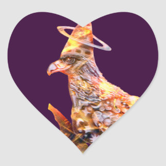 Eagle - Heavenly Wanderer № 28 Heart Sticker