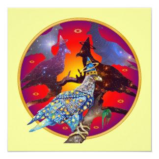 Eagle - Heavenly Wanderer № 32 13 Cm X 13 Cm Square Invitation Card
