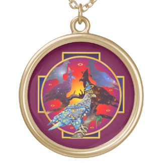 Eagle - Heavenly Wanderer № 8 Gold Plated Necklace
