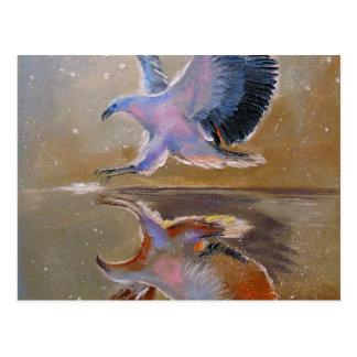 eagle hunting postcard
