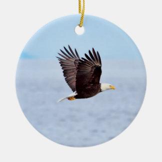 Eagle in Flight Christmas Tree Ornament