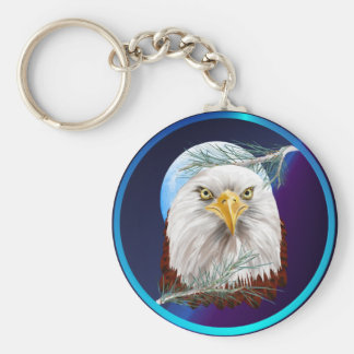 Eagle In The Pines  Keychains