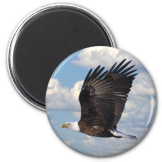 Eagle in the Sky 6 Cm Round Magnet
