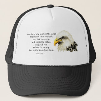 Eagle - Inspirational - Scripture - They that wait Trucker Hat