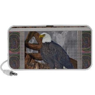 EAGLE King of Bird of Prey North American Habitat Mp3 Speakers
