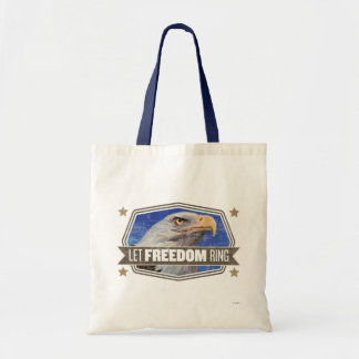 Eagle-Let Freedom Ring Tote Bags