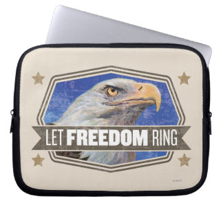 Eagle-Let Freedom Ring Laptop Sleeves