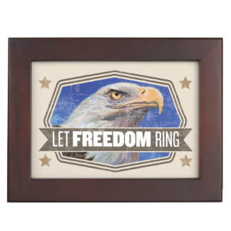 Eagle-Let Freedom Ring Memory Boxes