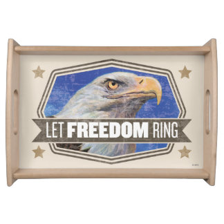 Eagle-Let Freedom Ring Serving Tray