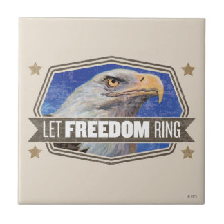 Eagle-Let Freedom Ring Small Square Tile