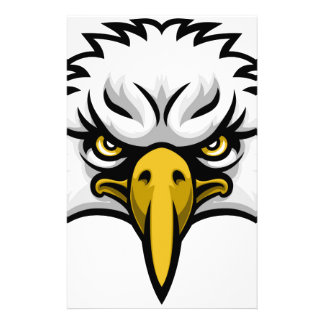 Eagle Mascot Face Personalised Stationery
