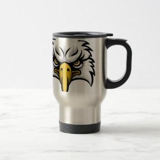Eagle Mascot Face Travel Mug