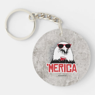 Eagle - 'Merican Party Single-Sided Round Acrylic Keychain