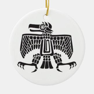 Eagle, Mexican hieroglyph(Maya) Christmas Ornament