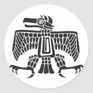 Eagle, Mexican hieroglyph(Maya) Round Sticker