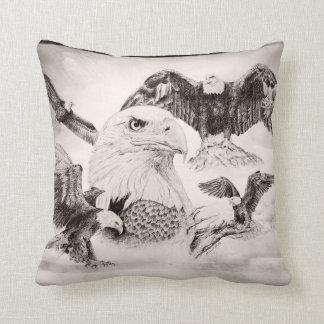 Eagle Montage Throw Pillow
