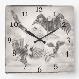 Eagle Montage Wall Clock