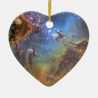 EAGLE NEBULA CERAMIC HEART DECORATION