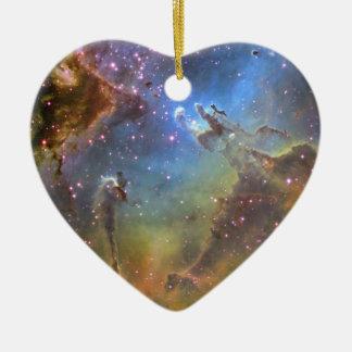 EAGLE NEBULA Double-Sided HEART CERAMIC CHRISTMAS ORNAMENT