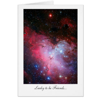 Eagle Nebula, Messier 16 - Lucky to be Friends Greeting Card