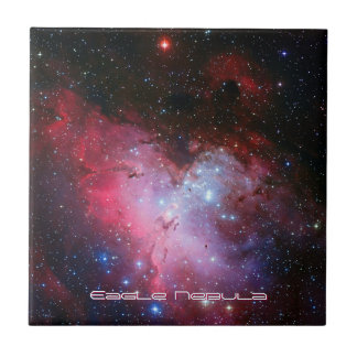 Eagle Nebula, Messier 16 - Pillars of Creation Small Square Tile