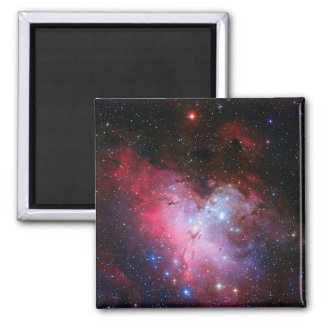 Eagle Nebula, Messier 16 - Pillars of Creation Square Magnet