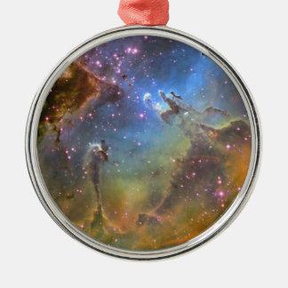 EAGLE NEBULA Silver-Colored ROUND DECORATION