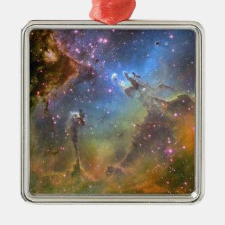 EAGLE NEBULA Silver-Colored SQUARE DECORATION