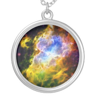 Eagle Nebula Silver Plated Necklace