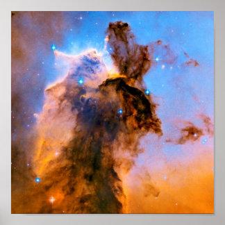Eagle Nebula Stellar Spire NASA Hubble Space Photo Poster