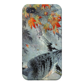 Eagle on a Maple Branch, Japanese Woodblock Print iPhone 4 Cases